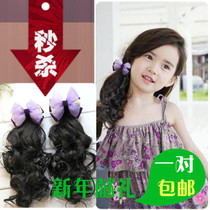 Korean childrens wigs hairpin childrens headdress hair accessories wavy curly hair female baby Princess autumn and winter accessories