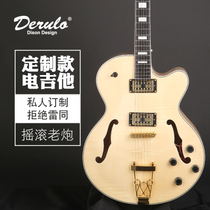Derulo JAZZ hollow electric guitar custom models professional electric guitar high-end personal custom wood color