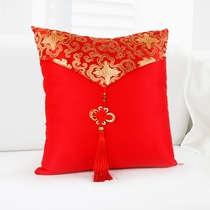Creative wedding supplies wedding pillow a pair of wedding bedroom decoration festive red press cushion pillow