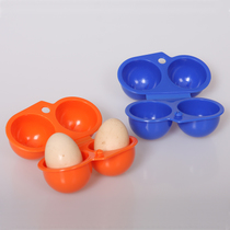 Outdoor Camping utensils Egg box 2 portable egg box two-grid egg box anti-crushing egg box