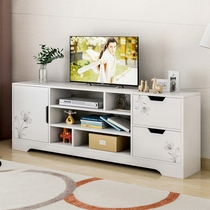 TV cabinet modern minimalist small apartment single high section plus high living room Nordic side Cabinet European simple wall