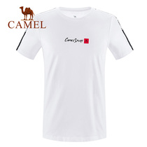 Camel mens short-sleeved T-shirt 2019 new Korean version of the trend of loose half-sleeved cotton round neck compassionate mens clothing
