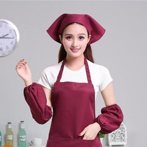 Chef Fabric Fast Restaurant staff after the chef coffee shop breathable restaurant kitchen dust-free hat Western restaurant work headscarf.
