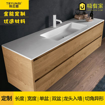 Custom one-piece Basin artificial stone one-piece wash basin special wash basin one-piece wash basin bathroom countertops