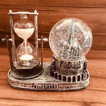 Retro hourglass Crystal Ball creative heart birthday gift girl girlfriend classmates 520 send boyfriend and girlfriend special