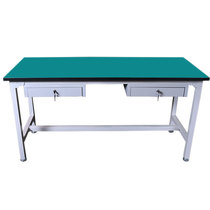 Custom anti-static work station assembly line inspection work table packaging workshop operators station with drawer experiment.