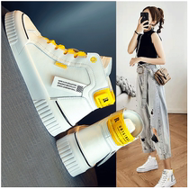 Female shoes 2019 new autumn and winter wild Network red sports leisure High Top little white daddy ins tide shoes 2020