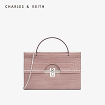 CHARLES & KEITH2019 autumn new ck6-10770389 metal buckle ladies portable shoulder bag