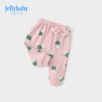 Childrens pants female spring and autumn 0-6 months baby autumn girls pants children 1-3 years old baby harem pants large pp pants