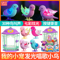 Smart create want my little pet hatching eggs my dream puppy children will shine singing birds toy girl