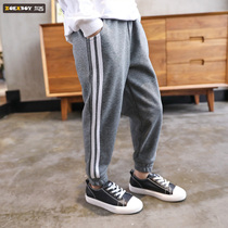 Left West boy pants 2019 new autumn trousers childrens sweatpants large children spring and autumn style Korean version of the tide
