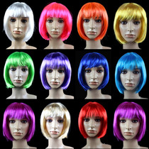 Lin Fang 100g party ball wig Hair set student hair BOBO hair non-mainstream Bobo head COSPLAY