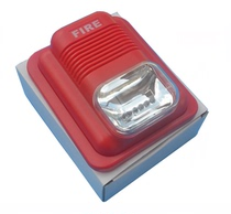 24V Fire Sound and Light Alarm Flash Sound and Light Alarm Police Lights Fire Fire Alarm LS-104