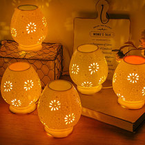 Aromatherapy lamp ceramic plug-in dimming essential oil lamp aromatherapy lamp bedroom aromatherapy beauty salon