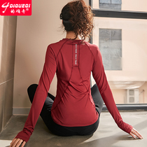 Indeed odd autumn long-sleeved yoga clothes sports shirt female net red running training fitness clothing breathable quick-drying t-shirt