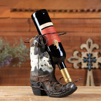 Western style equestrian crafts ornaments creative riding boots red wine rack equestrian ornaments eight feet Dragon BCL768808