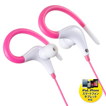 Japan sanwa mountain industry hanging ear leakproof sound headphones stereo sports girls cute Universal 3 5 connector