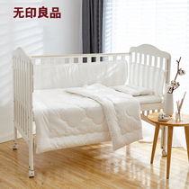 Muji machine washable cotton infant 6-Piece Set bed curtain pillow quilt
