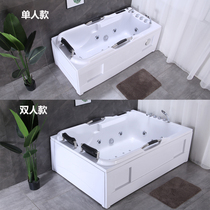 Independent acrylic small apartment bathtub massage surfing heated heated adult double bathtub Hotel Villa