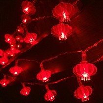 New Year led Big Red Lantern string Festive Spring Festival waterproof outdoor decorative lamp Chinese pepper glowing small lantern
