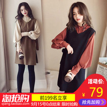 2019 autumn and Winter new female spring tide net red dress two sets of Western style was thin early autumn age