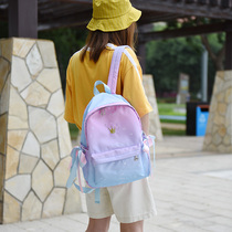 Gradient star shoulder bag female hit color waterproof nylon backpack Korean Harajuku ulzzang Crown lady bag