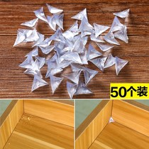 Transparent cabinet dust angle drawer wardrobe corner dustproof anti-Gray angle cabinet triangular pad angle tablets 50 pack