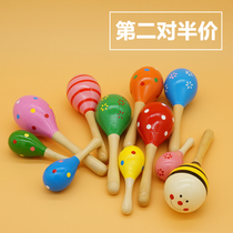 Baby sand hammer baby early education music percussion sand ball children rattle grip chase listening training toys