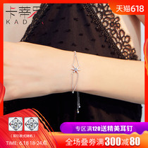 Bracelet female sterling silver Korean simple personality Sen Department girlfriends Valentines day Swarovski zirconium couple gift