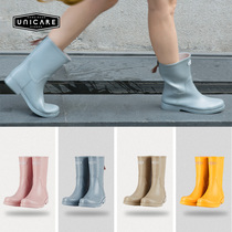 UNICARE spring and autumn Europe and the United States in the tube rain boots women adult non-slip boots water shoes women waterproof rain boots fashion shoes