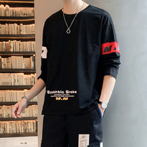 Spring and autumn personality hip-hop country trend XXL mens long-sleeved t-shirt male T-shirt loose Tide brand shirt