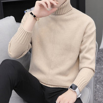 Mens turtleneck sweater 2018 winter new autumn and winter teen hundred bottom sweater trend lapel linens