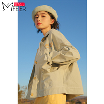 Honey Princess short denim jacket female spring and autumn 2019 popular new Korean version of the red baseball suit bf students loose