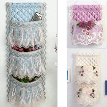 Lace hanging bag storage bag wall hanging door rear wardrobe hanging bag three pockets four pockets fabric storage finishing bag