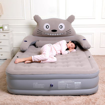 Man Fu ya Chinchilla inflatable mattress home single double thickened plus high air bed cartoon cute folding portable