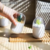 Toothpick box home personality creative cute storage barrels high-end restaurant loaded cotton swabs cans Nordic wind ornaments