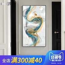 Entrance entrance decorative painting vertical version of the entrance corridor aisle murals living room Light Luxury Paintings Modern new Chinese elk