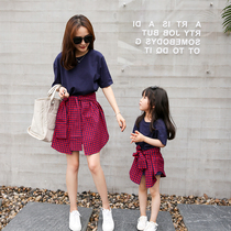 Not the same parent-child summer dress 2019 new influx of female female foreign style dress Network red shaking a family of three or four