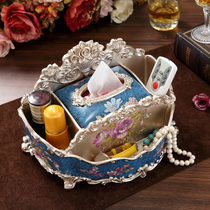 American tissue box pumping tray multi-functional living room dining table creative European napkin carton remote control storage ornaments