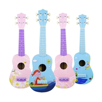 With the exhibition of color cartoon pattern ukulele 21 inch small guitar beginner ukulele ukulele Yuri