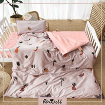Rowoll Luo Wei kindergarten quilt cotton quilt cover Spring Summer Autumn and winter children three-piece Siesta bedding