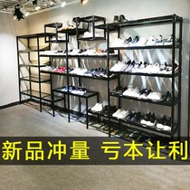 Shoe store shelf display stand floor childrens shoes shopping mall shoes shop shoe rack commercial bag shelf display rack decoration