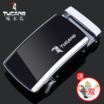 Woodpecker belt head mens automatic buckle 3 5cm high-grade stainless steel waistband buckle accessories clip