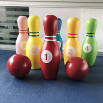 Gift toys activities 2-3-4-8-year-old baby bowling set childrens large eco-friendly game parent-child wood.