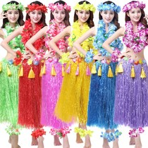 Handmade kindergarten material package making 60cm fashion show 40 Hawaii adult hula five-piece costume six