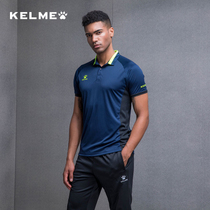 Kelme Soccer Basketball polo shirt mens and womens lapel running fitness quick-drying custom T-shirt summer