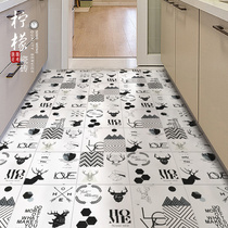 Nordic small tiles 300x300 bathroom kitchen tiles tile black and white simple non-slip floor tiles red brick