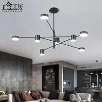 Chandeliers modern simple atmosphere Home personality creative lighting bedroom restaurant lights Nordic living room lights 2019 New