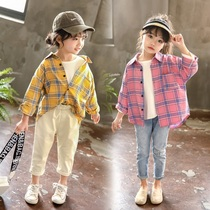 Girls autumn cardigan jacket 2019 new small children Korean version of the style long-sleeved shirt female baby shirt tide