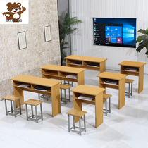 Primary and secondary school students single and double counseling tutoring table stool school with cram classroom training desks and chairs combination